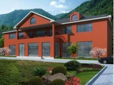 钢结构别墅 (7)